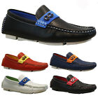 NEW MENS FAUX LEATHER DESIGNER ITALIAN LOAFERS CASUAL MOCCASIN BOAT SHOES SIZE