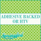 Lime Green & White Quatrefoil Pattern Adhesive Craft Vinyl or HTV for Shirts!