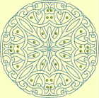 CELTIC QUILT CIRCLE SINGLES -Design 6- from Anemone Machine Embroidery-4 SIZES