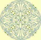 CELTIC QUILT CIRCLE SINGLES -Design 11- from Anemone Machine Embroidery-4 SIZES