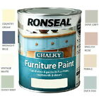 All-In-One-Tin! Ronseal Chalky Matt Tough Furniture Paints 750ml - All Colours