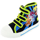 NEW BOYS  MOSHI MONSTERS HI TOP CANVAS SHOES RETRO PUMPS PLIMSOLLS TRAINERS