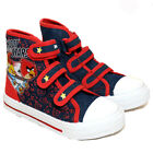 NEW BOYS ANGRY BIRDS STARS HI TOP CANVAS SHOES RETRO PUMPS PLIMSOLLS TRAINERS