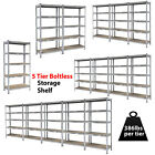 "Heavy Duty Steel 71"" 5 Level Garage Shelf Metal Storage Adjustable Shelves Unit"