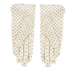 Women Summer Dot Glove SUN Protection Cotton Lace Side buttons Driving Mittens