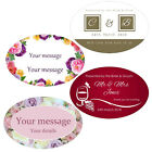 Large Oval Personalised Business/Company Name Labels/stickers, Thank You Seals