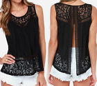C Fashion Women's Summer Vest Top Sleeveless Blouse Casual Tank Top T-Shirt Lace