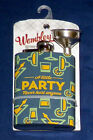 New Wembley 4oz Stainless Steel Hip Flask with Funnel - 5 Themes