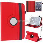 """US For 7"""" 7.9"""" 8"""" Android Tablet 360 Rotate Folio PU Leather Case Cover +Stylus"""