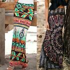 Women Bohemia Style Maxi Skirt Package Hip Multi-colors High Waist Long Skirts