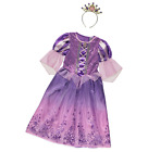 Disney Licensed Princess Rapunzel Tangled Girls fancy dress & Tiara 3-4 5-6 7-8y