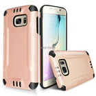 For Samsung Galaxy S7 /S7 Edge Shockproof Tough Brushed Hybrid Armor Rubber Case