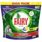 Fairy All In One Lemon Giga Pack of 100 Dishwasher Tablets Detergent Capsules
