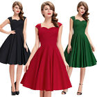 2017 Women's 1950's Vintage Dancing Retro Party Swing Dress Ball Gown Prom Dress