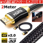 Premium HDMI 4K Cable v2.0 High Speed Video Lead 3D Ultra HD 2160p 1M 1.5M 2M 3M <br/> 18Gbp✅ 28AWG ✅Triple Shielded✅SameDay Dispatch