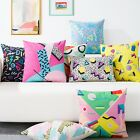 Abstract Colourful Geometry Decor Pillow Case Cushion Cover Square Oblong Linen