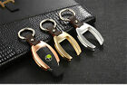 Tuff Car Key Cover For Smart Fob Key Aircraft Aluminum Case Top Genuine Leather