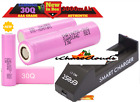18650 Samsung 30Q Rechargeable Flat Top High Drain Lot Vape Battery & Chargers
