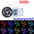 0.5m-2m Battery Powered 5050 RGB SMD LED Flexible Strip Light Waterproof +remote