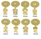 Mini Micro Jesus Pendant Rope Chain 14K Gold Plated Necklace