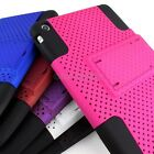 For Apple iPad Mini Hybrid Dual Layer Rubberized KickStand Stand Hard Cover Case