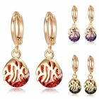Hoop Dangle  Red Gold Filled Hollow Elegant Ear Stud Sheer Silver  Earrings