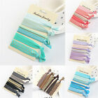6pcs Elastic Mixed Hair Ties Knot Ponytail Holder Hairband Bracelets Rubber Band