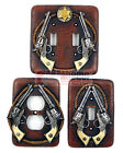 Western Rustic Double Pistols Rope Star Switch Plates & Outlet Covers Sheriff