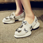 Fashion womens sneakers breathable slip on bowknot decor casual lesiure shoes