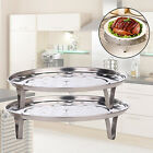 STAINLESS STEEL STEAMER RACK INSERT STOCK POT STEAMING TRAY STAND GOOD TOOL