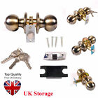 Privacy Stainless Steel Door Knob Handle Bedroom Bathroom Brushed Lock Set New