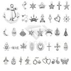 20-250pcs Lots Metal Charm Pendant Fit Tibetan Silver Jewelry Findings 40 Style