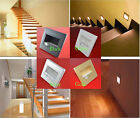 1/10pcs PIR Motion Sensor Recessed Footlight Corner LED Stairway Light Wall Lamp