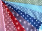 Polka dot spotty fabric in many pretty colours 100% cotton includes postage