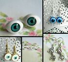 PAIR EARRINGS PIERCED EARS EYES EYEBALLS EVIL EYE STUDS
