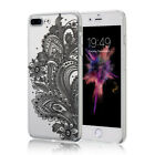 Clear Floral Pattern Transparent Silicone TPU Soft Case Cover For iPone 6 7 Plus