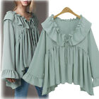Fashion Women's Ladies Summer Loose Chiffon Tops Long Sleeve Shirt Casual Blouse