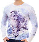 Snow Leopards In Snow Mens Long Sleeve T-Shirt Tee wa2 aao40217