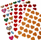 Gold or Red GLITTER or FOIL ANIMAL PRINT HEARTS STICKERS Stick*a*Bilities  #5