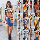 Women Fashion Printed Loose Casual Short Sleeve Printing Blouse T-shirt Tops