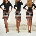 Womens Evening Party Dress Ladies Long Sleeve Bodycon Cocktail Prom Mini Dresses