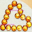 (Any SIZE) Topaz Gold Iron On Flatback ( Hot fix ) Rhinestone Crystal Losse Gems