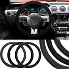 Power XT Faux Leather Steering Wheel Cover Easy Contour Grip Fits Cars Truck DIY
