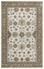 Rizzy Rugs Gray Traditional-European Vines Petals Area Rug Bordered VN9445