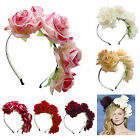 Boho Handmade Floral Flower Headband Hair Garland Wedding Fashion Headpiece