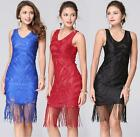 Women Red Lace V-neck Short Dress Prom Evening Party Cocktail Bridesmaid Wedding