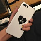 For Apple iPhone 6s 6 Plus 7 Plus Love Heart Design Soft Frosted Phone Cases