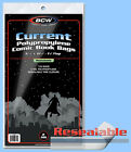 BCW: Comic Bags: RESEALABLE: CURRENT or CUR-THICK:  600ct (6 packs) *FREE SHIP