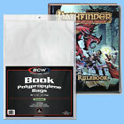 BCW: Book Bags: HARDCOVER Size: RESEALABLE: 200ct (2 packs) 2-mil Poly FREE SHIP