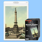 BCW: Semi-Rigid Holders: POSTCARD SIZE: 1000ct: 20 Packs (50 per pack) *CASE-LOT